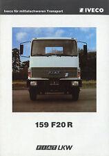 Prospekt D Fiat 159 F20R LKW ca. 1979 truck brochure Broschüre Nutzfahrzeug
