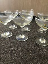 10 x Vintage Babycham glasses, champagne coupes 1970s