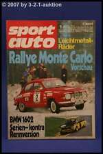 Sport Auto 1/72 BMW 1602 Serie - GS 1602 + Poster