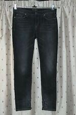 CAMBIO ~ Luxury Edition, Distressed Skinny Black Jeans ~ Size USA 10 (UK 14)