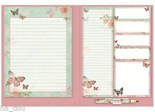 Notepad + Sticky Notes Book + Shopping List Pad Butterfly Notebook Pad gift