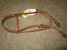 """TOP QUALITY, WEAVER Leather  HEADSTALL w SOLID BRASS BUCKLES & 5.25"""" SNAFFLE"""