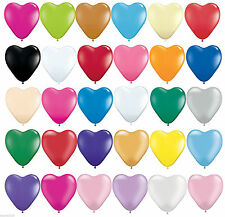 100 LOVE HEART SHAPE BALLOONS*Wedding Party Romantic ballon Birthday heart shape