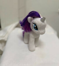 "Ty ""Sparkle"" My Little Pony Unicorn 10"" Rarity Plush White blue eyes purple hair"