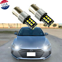 2x 1157 White LED Parking Brake Light Bulbs For Hyundai Accent Elantra GT Sonata