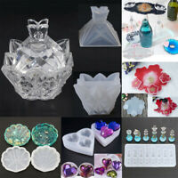 Flower Silicone Jewellery Storage Box Resin Mold Casting Making Mould DIY Tools