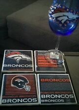 Denver Broncos Coaster Set of 4