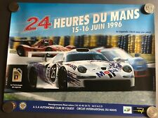 1996 Porsche 911 GT1 24 Hours of Le Mans Poster RARE!! Awesome L@@K