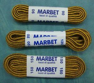 MARBET lacci stringhe per scarpe tipo Timberland giallo/marrone / CM. 90-120-150