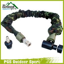Paintball Remote Hose Coiled Hose Line w/QD & Digital Camo Cover Exend 3.5m