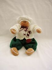 """Adorable Soft 14"""" Christmas Dressed Gingerbread CHEF Plush Doll~MINT"""
