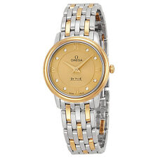 Omega DeVille Prestige Champagne Diamond Dial Steel and Yellow Gold Ladies