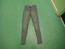 """New Look taille haute Jeans moulant 10 jambe 28 """" décoloré Gris Femmes"""