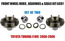 Toyota Tundra 4WD Front Wheel Hubs, Bearings & Seals Kit Assy 2000-2006 SET OF 2