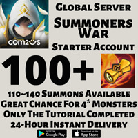 [GLOBAL] [INSTANT] 110~140 SUMMONS | SUMMONERS WAR STARTER ACCOUNT