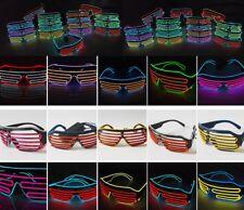 Neon LED Glasses Glow Light Up Frame Dance Party Nightclub 2pcs Combo (Random)