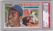 Hank Aaron 1956 Topps #31 Baseball Card (Gray Back) Graded PSA 4 VG-EX