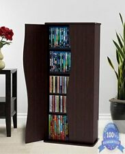 DVD Blu Ray Media Cabinet Storage VHS CD Adjustable Shelf Organizer Rack Tower