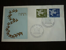 Postal History - Europa 1961 - Germany - Scott# 844, 845 - First Day Cover