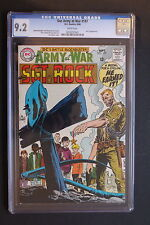 OUR ARMY AT WAR #197 (DC Comics) SGT. ROCK 1968 UNIT 3 Kubert Heath CGC NM- 9.2