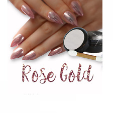 2X Silver Rose Gold Mirror Powder Chrome Effect Nail Powder Gel Polish FAST POST