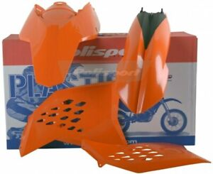 Polisport - 90182 - Plastic Kit (Orange) For KTM 450/530 EXC-R 2008-2011