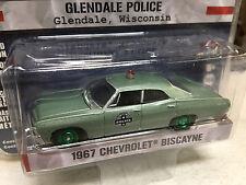 Greenlight 1/64 GREEN MACHINE Glendale, WI Police 1967 Chevy Biscayne