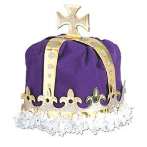 Royal King's Crown Purple Adult Size Paper Medieval Renaissance Costume Prop