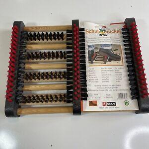 """OGOS Schuhmuckel Shoe Boot Scraper 14"""" x 11"""" Non Slip Solid Wood Made in Germany"""
