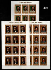 / 12X COOK ISLANDS - MNH - IMPERF - FAMOUS PEOPLE - WHOLESALE