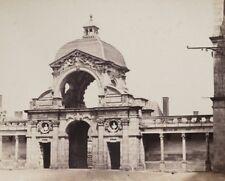 c1860 Achille QUINET Entrée château Fontainebleau porte Dauphine Albumen Print