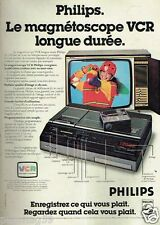 Publicité advertising 1979 Le Magnetoscope VCR Philips