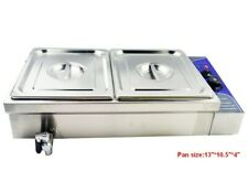 New�2-Pot 110V For 2*1/2 Pan Food Warmer Steam Cooking Warming Equipment