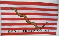 Fahne Flaggen DONT TREAD ON ME rot weiße Streifen 150x90cm