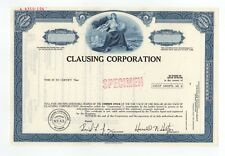 SPECIMEN - Clausing Corporation Stock Certificate