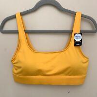 NWT Victoria Secret PINK Sports Bra Medium Mustard Yellow Padded Light Support