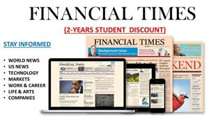 """Financial Times """"Premium Edition"""" 2-Year Subscription Apple/Android/PC Global*"""