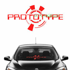 (1) Red PROTOTYPE Windshield Front Glass Body Mugen JDM Vinyl Car Sticker Decal