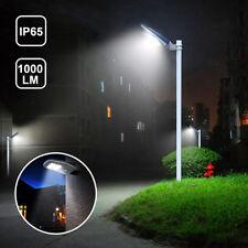 1,000LM Commercial LED Solar Street Light Outdoor IP65 Dusk to Dawn Sensor Lamp