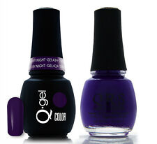 Gel & Polish QRS Beauty Combo MAT424 Starry Night Purple Color