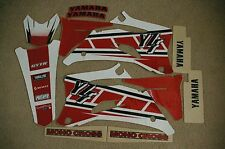 FLU RETRO TEAM GRAPHICS YAMAHA YZ250F YZ450F YZF250 YZF 2006 2007 2008 2009  red
