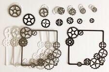 Steampunk Gear Frame Die Cuts - Monochrome - Pack Of 4