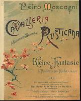 """kleine Fantasie über """" Cavalleria Rusticana """" J. Azzoni, übergroße, alte Noten"""
