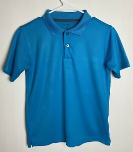 George Boys Blue Short Sleeves Polo Shirt Sz L(10-12)^