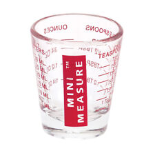 Mini Measure Multi-Purpose Measuring Cup Shotglass, Red