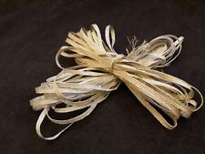 Satin strong Ribbon Sew On Lace Trim for dreses / upholstery silver and two tone