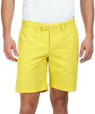 ORLEBAR BROWN Chartreuse Yellow Boston COTTON Shorts W28 71cm NEW WITH TAGS