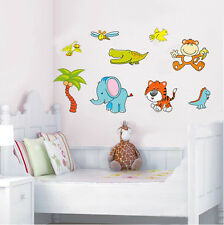 Jungle Zoo Animal Wall Decal Removable Stickers Kids Nursery Decor PVC Mural