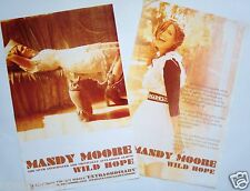 "Mandy Moore ""Wild Hope"" 2-Sided U.S. Promo Poster-Actress/Model/Sing er/Superstar"