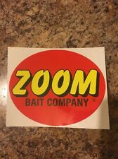 Zoom bait Lures stickers x 4 Each Boat, Bumper or Windshield Decal